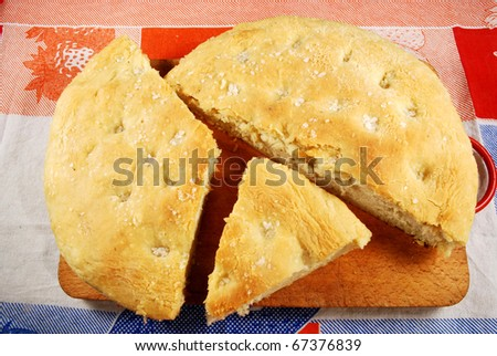 014 - A homemade cake leavened baked - stock photo