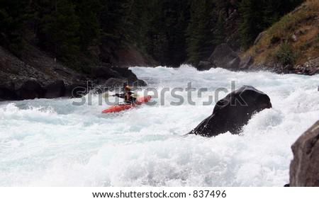 a kayaker - stock photo