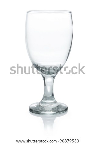 a large crystal glass isolated on white background - stock photo
