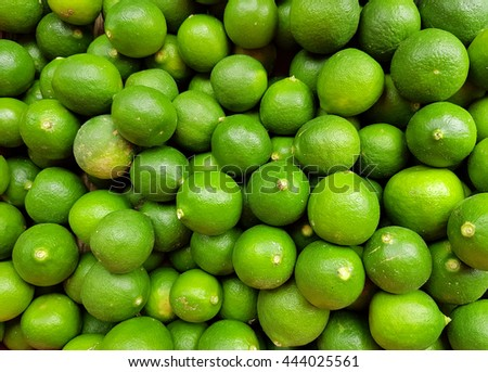 A lot of limes - stock photo