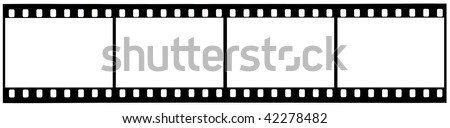 A picture of used strip 35mm film with clipping paths - stock photo