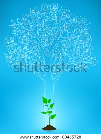 a small tree of big expectations JPEG - stock photo