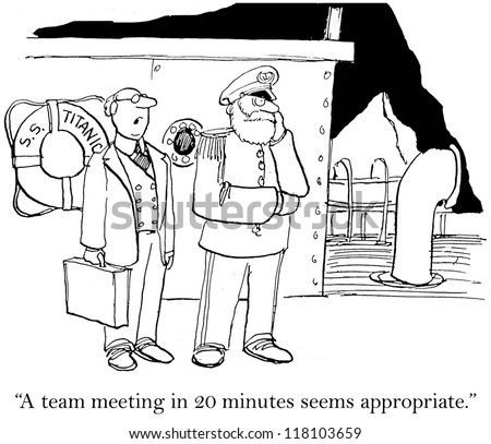 """A team meeting in 20 minutes seems appropriate."""