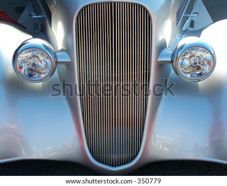 a vintage automobile - stock photo