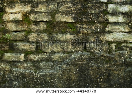 A wall in an old house - stock photo