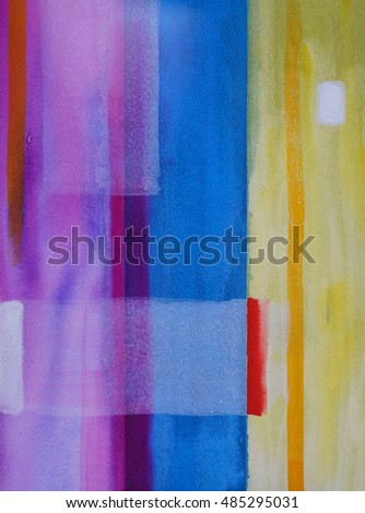A watercolor abstract painting; vertical bands of cool color with white inclusions.