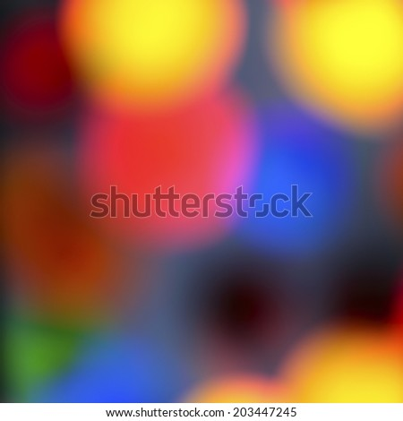 Abstract background: Blurred colorful circles - stock photo