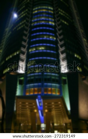 """Abstract Background Blurred Image"" Modern architecture in Tokyo Japan.  (Blur style image)"