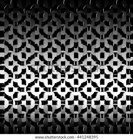 abstract background of black mesh metal glitter - stock photo
