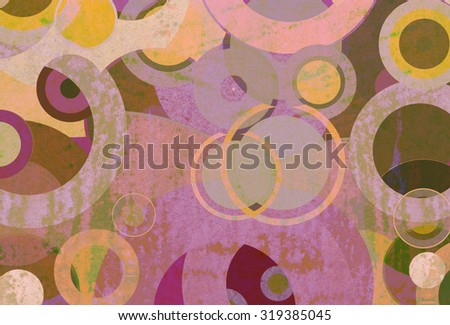abstract background of striped retro circles - stock photo