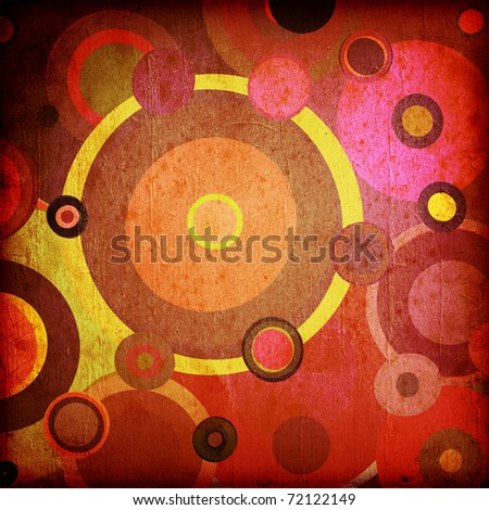 abstract background of striped retro circles