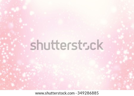 Abstract Background with Christmas Glitter Defocused Bokeh,  Blurred Soft colored pink, white and golden  - stock photo