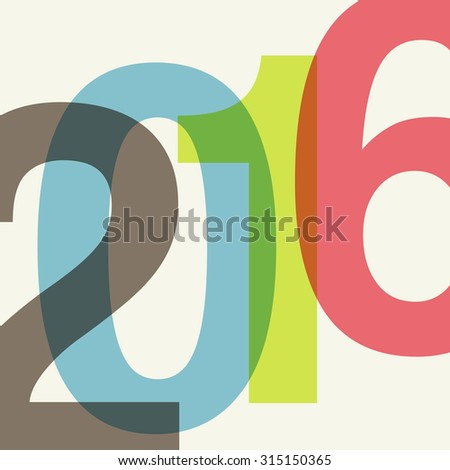 2016 abstract background with transparent numbers. raster version - stock photo