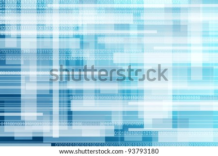 abstract blue background ,binary - stock photo