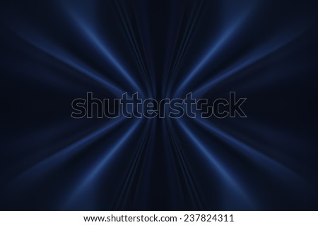 Abstract blue background with fractal lines - stock photo