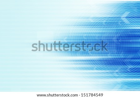 abstract blue design background with circle and arrow