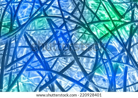 abstract blue green lines background texture illustration - stock photo