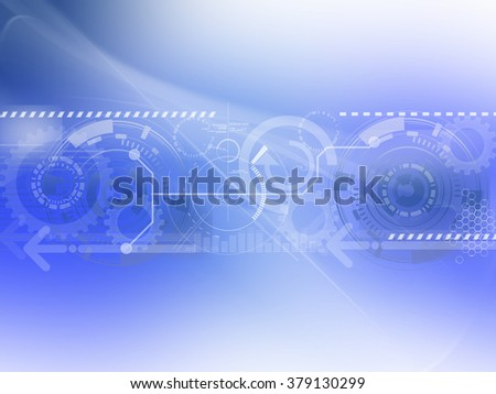 Abstract Blue technology background design
