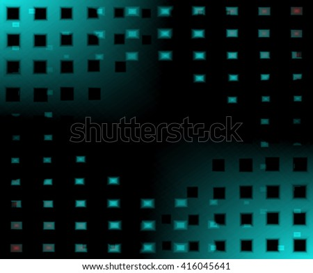 Abstract blurred lighting mosaic, black drop design for backgrounds