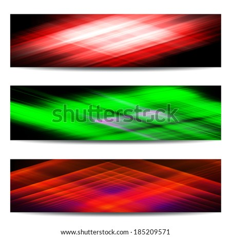 Abstract color banner set for creative design