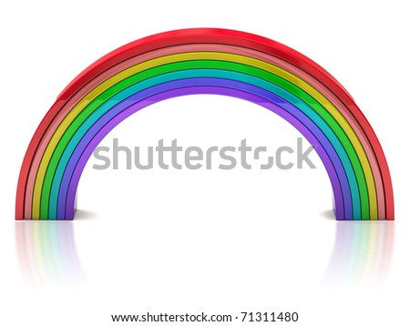 Abstract colorful rainbow isolated on white background