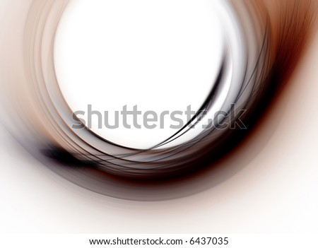 abstract curve composition on white background