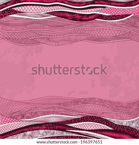 abstract floral decorative background. Template frame design for card with place for your text.