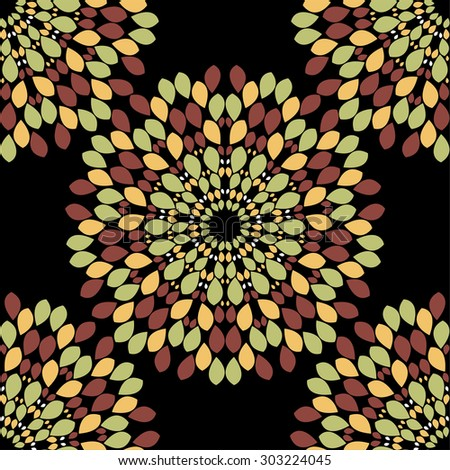 Abstract flower seamless pattern background  easily editable  image - stock photo