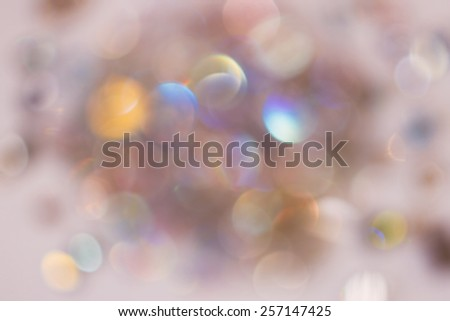 Abstract Glitter Defocused Background With Blinking Stars. Blurred Bokeh - stock photo