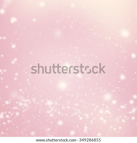 Abstract Glitter Defocused Bokeh Blinking Stars and snow flakes. Blurred Soft colored background  - stock photo