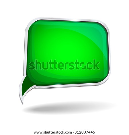 abstract glossy speech bubble  with place for text background - stock photo