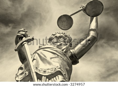 abstract justice - stock photo