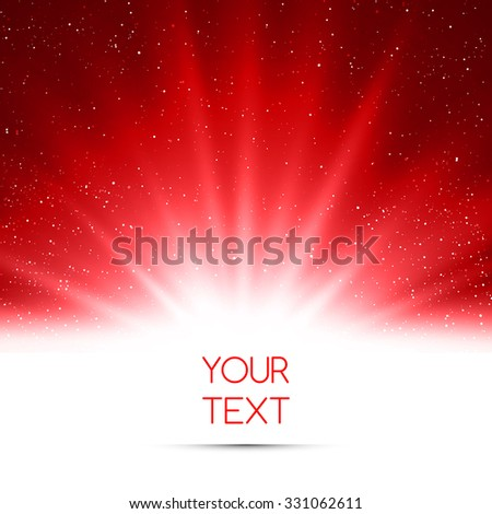 Abstract magic red light background - stock photo