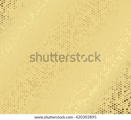 abstract metal gold hexagon with cells - stock photo