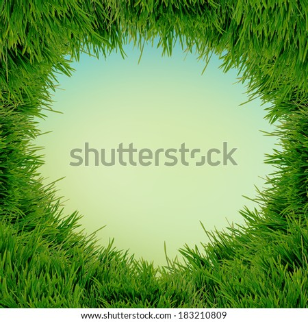 abstract natural background withfresh green grass - stock photo