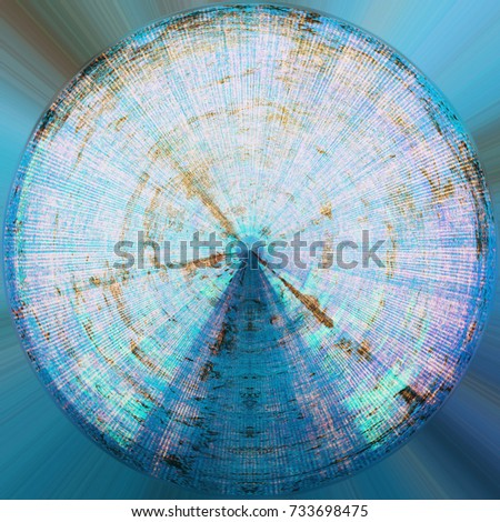 Abstract Round Messy Aging Style Element. Round Grunge Antique Background With Retro Texture.