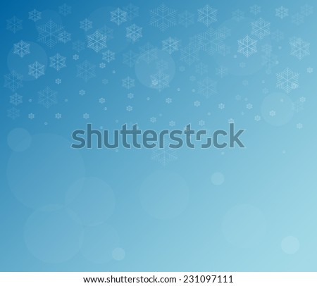 Abstract snowflake Christmas background.