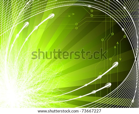 Abstract technology background - rasterized version of vector - stock photo