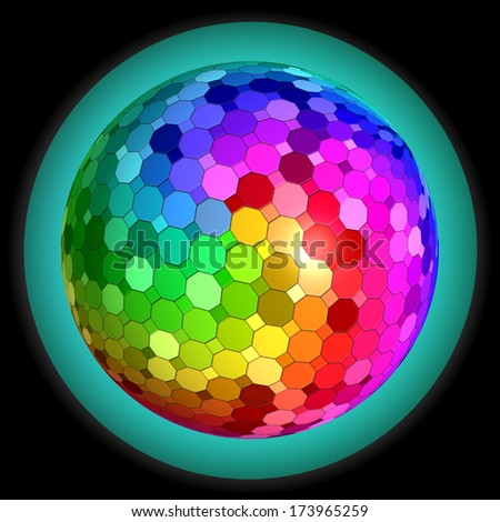 abstract texture - colorful bal