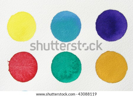 abstract watercolor background   circles