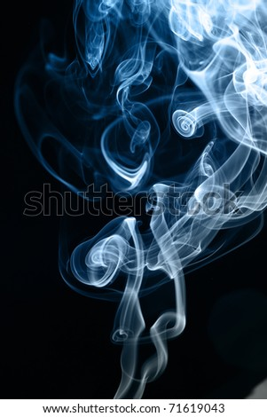 abstract wave smoke - stock photo