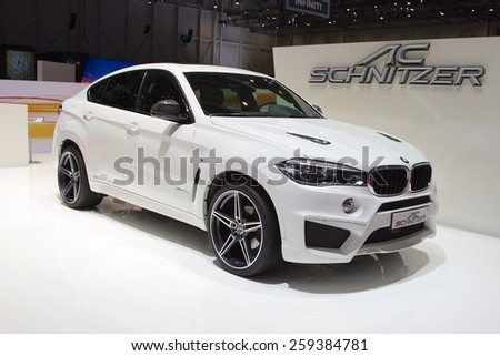 2015 AC Schnitzer BMW X6 (F15) presented the 85th International Geneva Motor Show on March 3, 2015 in Palexpo, Geneva, Switzerland