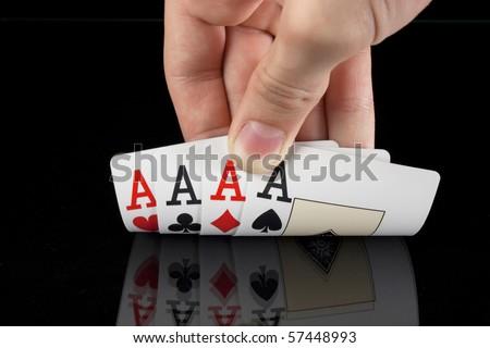 4 aces - stock photo