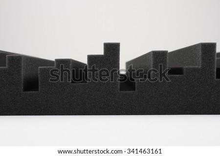 Acoustic Foam Rubber - stock photo