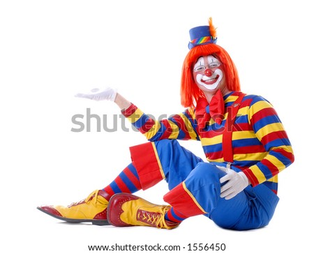 """Add Your Product"" Circus Clown #3 - stock photo"