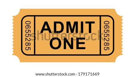 Admission Ticket - stock photo