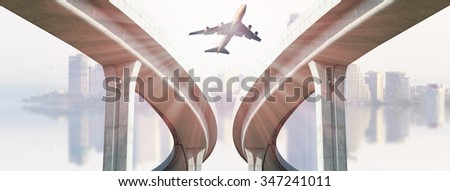 airline airplane flight path travel plans.freight cargo plane in transport and import-export commercial logistic ,shipping business industry  - stock photo