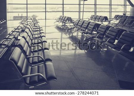 airport waiting room                       - stock photo