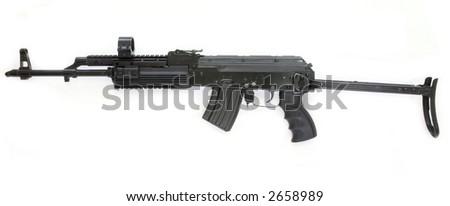 AK-47 kalashnikov assault rifle - stock photo