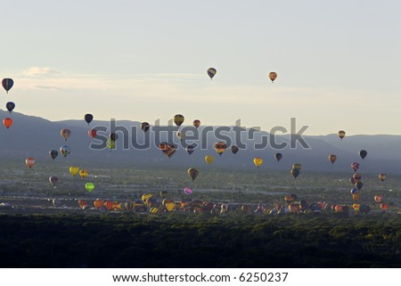 2007 Albuquerque Balloon Fiesta - stock photo